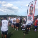 Teenagers at ProPlayer Football Camp Sponsored by Our NJ Modular Home Company
