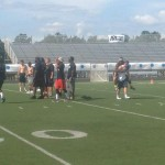 Training at ProPlayer Football Camp in NJ