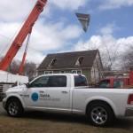 Window on crane for Modular Home in Brick NJ
