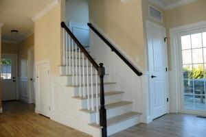 Staircase In Lake Como Modular Home In NJ