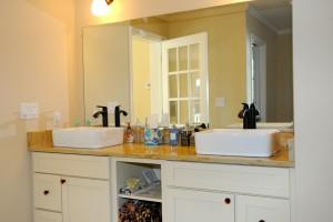 Dual Bathroom Sinks In Lake Como Modular Home In NJ