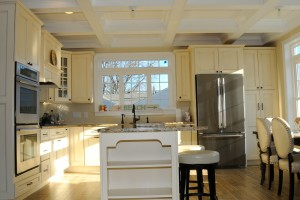 Kitchen Island In Lake Como Modular Home In NJ